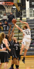 Maddie Vasquez gets acrobatic on the shot