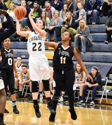 Nicole Bareis goes up for a shot