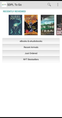 Bibliocommons Library app screenshot