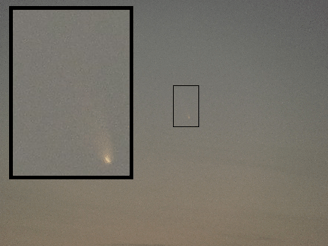 Comet C/2011-L4 Pan-STARRS, March 13, 2013. Shot from Santa Clara, CA.