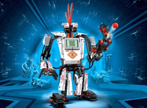 Lego Mindstorms robot on a mission to find the bug.