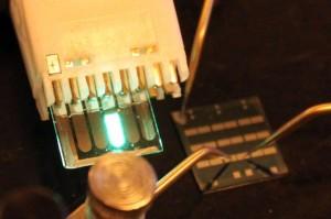 Thin-film transistor developed at UCLA. (Source: UCLA)