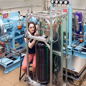 NIST has developed this prototype field test standard to test the accuracy of hydrogen fuel dispensers. (Source: NIST)