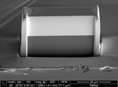 SEM image of the novel X-ray lens (Source: DESY)