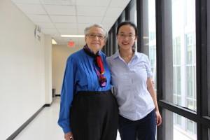 Mildred Dresselhaus and Lin Zhou of MIT (Source: MIT)
