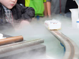 High-temperature superconductor cooled with liquid nitrogen. The prediction if and when a material becomes superconducting depends decisively on whether excitations require energy or not. However, a prediction of that property is more difficult than imagined, as an underlying mathematical problem has proven to be unsolvable in principle. (Source: Ulli Benz / TUM)