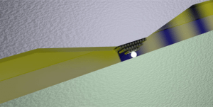 The switch is based on the voltage-induced displacement of one or more silver atoms in the narrow gap between a silver and a platinum plate. (Source: Alexandros Emboras / ETH Zurich)