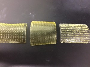 Patterned membranes using 3D printing (Image: Hickner Group/Penn State)