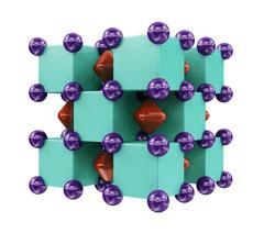 Crystal structure of Na2He. (Credit: Artem R. Oganov/Skoltech)