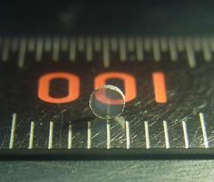 A sample of transparent polycrystalline cubic silicon nitride. (Credit: Norimasa Nishiyama, DESY/Tokyo Tech)