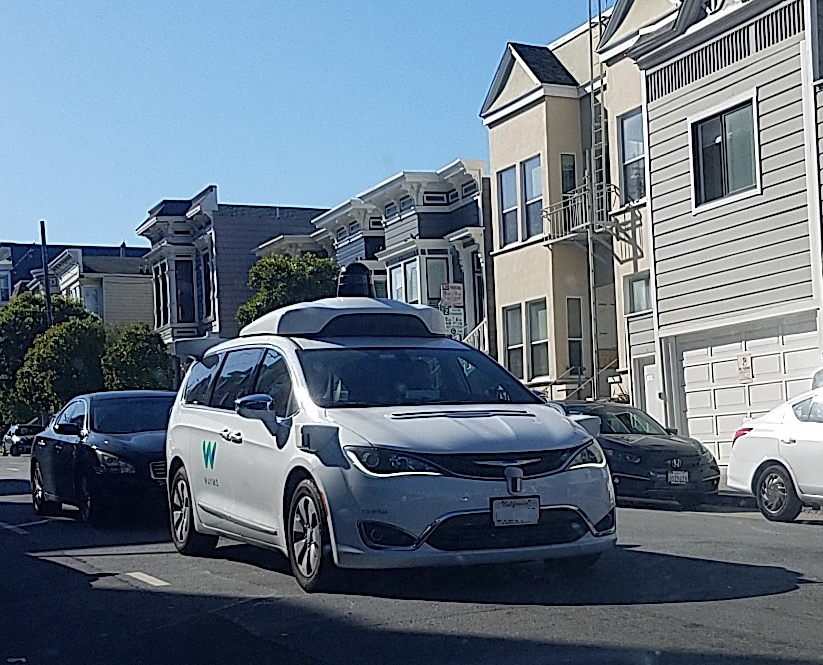 Waymo self-driving car is a common sight on San Francisco streets. Sept 2021, Semiconductor Engineering, S.Rambo,