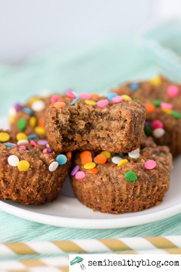 Semi- Healthy Banana Oat Muffins [ GF ]