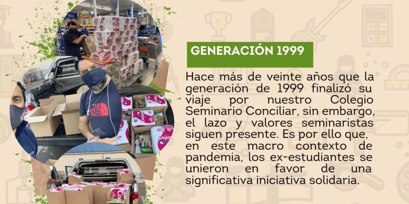 GENERACIÓN 1999 REALIZA INICIATIVA SOLIDARIA