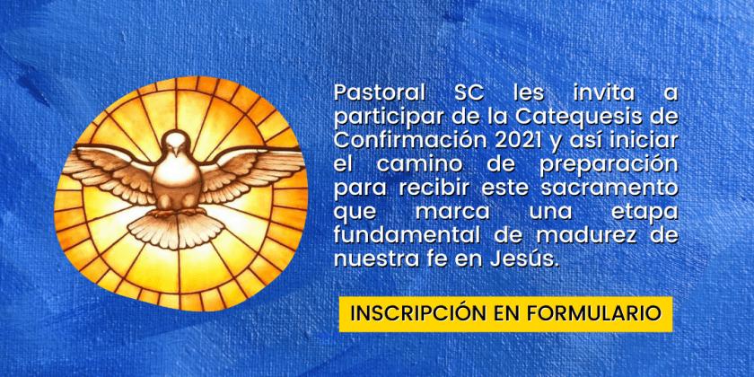 INSCRIPCIONES CATEQUESIS CONFIRMACIÓN