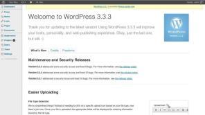 WordPress 3.3 do Dashboard