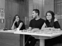 Marília Gabriela Almeida, Bruno Bezerra e Danielle Camara. Foto: Elena Lombardo.