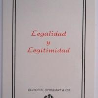 """Carl Schmitt. """"Legalidad y legitimidad"""""""