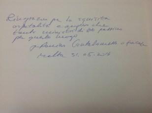 Farewell note from P. Raniero Cantalamessa