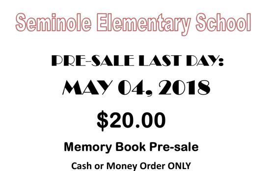 Memory Book Pre-sale