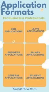Sample Application Formats