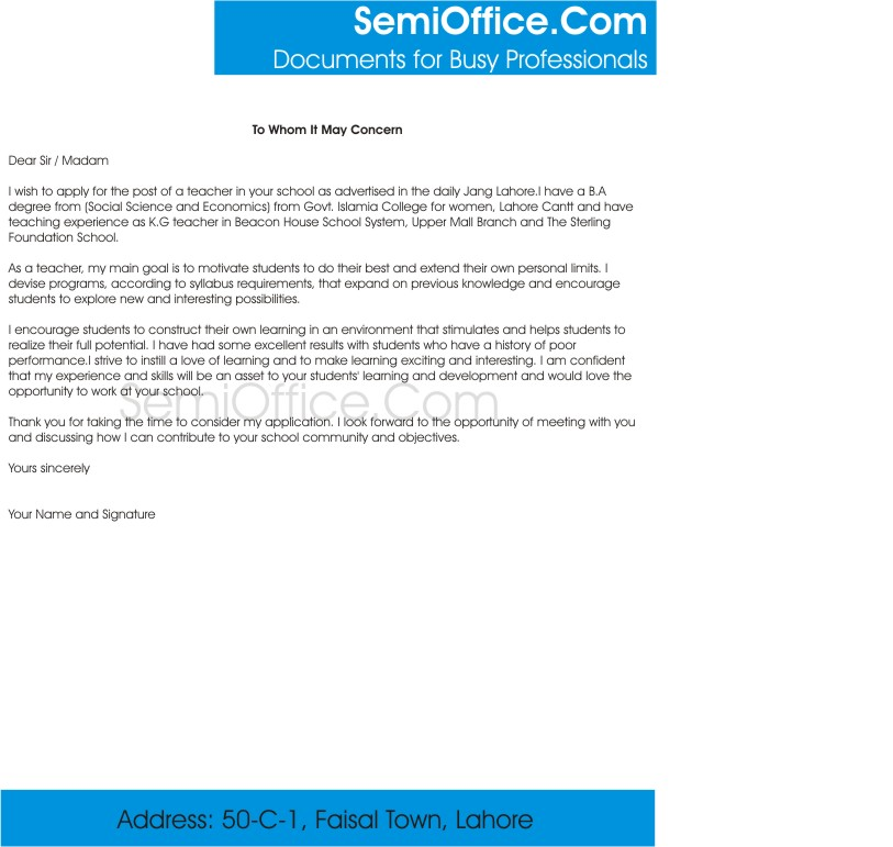 preschool cover letter sample semioffice com