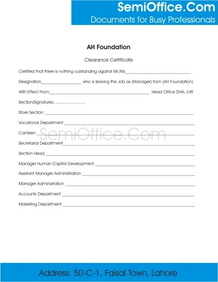 Employee Clearance Form for Resigning, and Termination Page 1