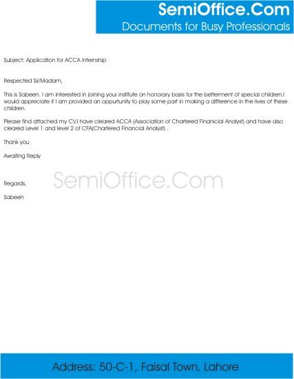 Sample Email for Volunteer Work