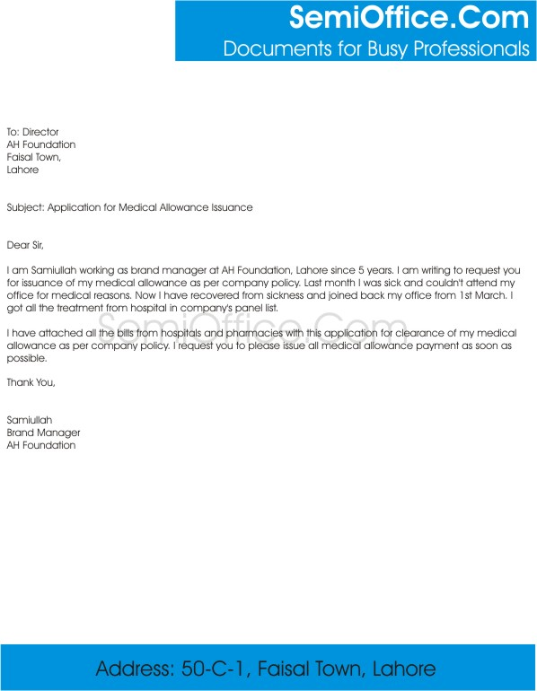 medical request letter