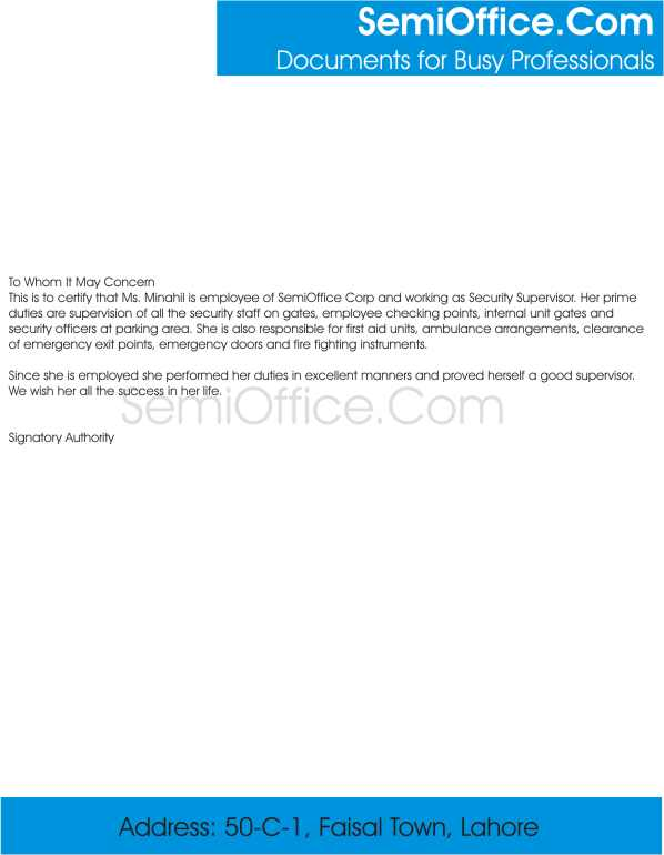 Experienceletterforsecuritysupervisorgssl1 experience letter of security supervisor yadclub Image collections