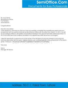 Employment Confirmation Letter From Employer