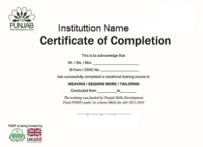 Sample certificate of course completion free download altavistaventures Image collections