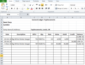 General Ledger in Excel Free Download