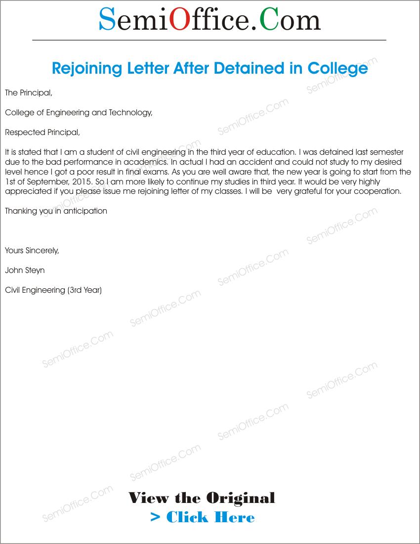 Rejoining Letter After Study Leave Png Ssl 1