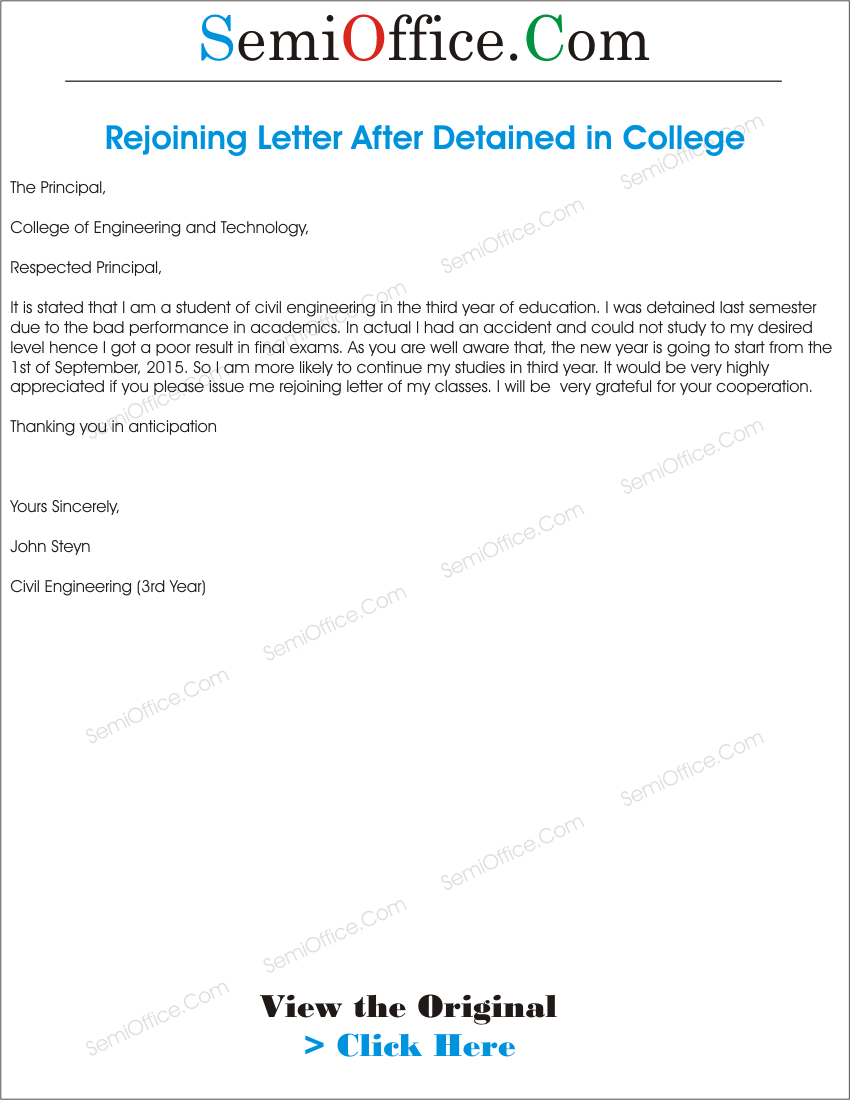 Rejoining archives page 2 of 2 semioffice rejoining application letter after study leave spiritdancerdesigns Choice Image