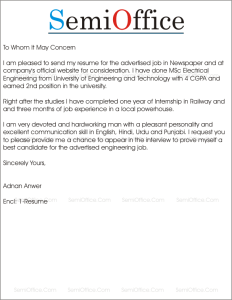 Cover Letter Electrical Engineer For Free Download