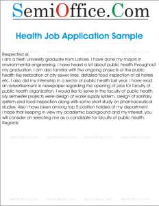 Cover Letter For University Graduate For Faculty Of Public Health