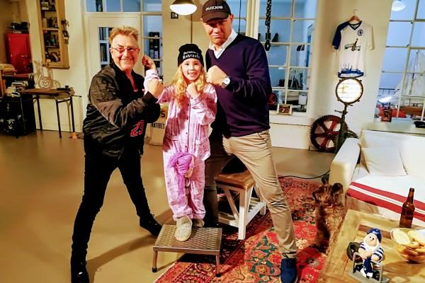 Dreh in Köln mit Comedian Markus Krebs, seiner Nichte Lucy und Boxidol Axel Schulz