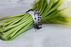 Rosaries on Bouquet