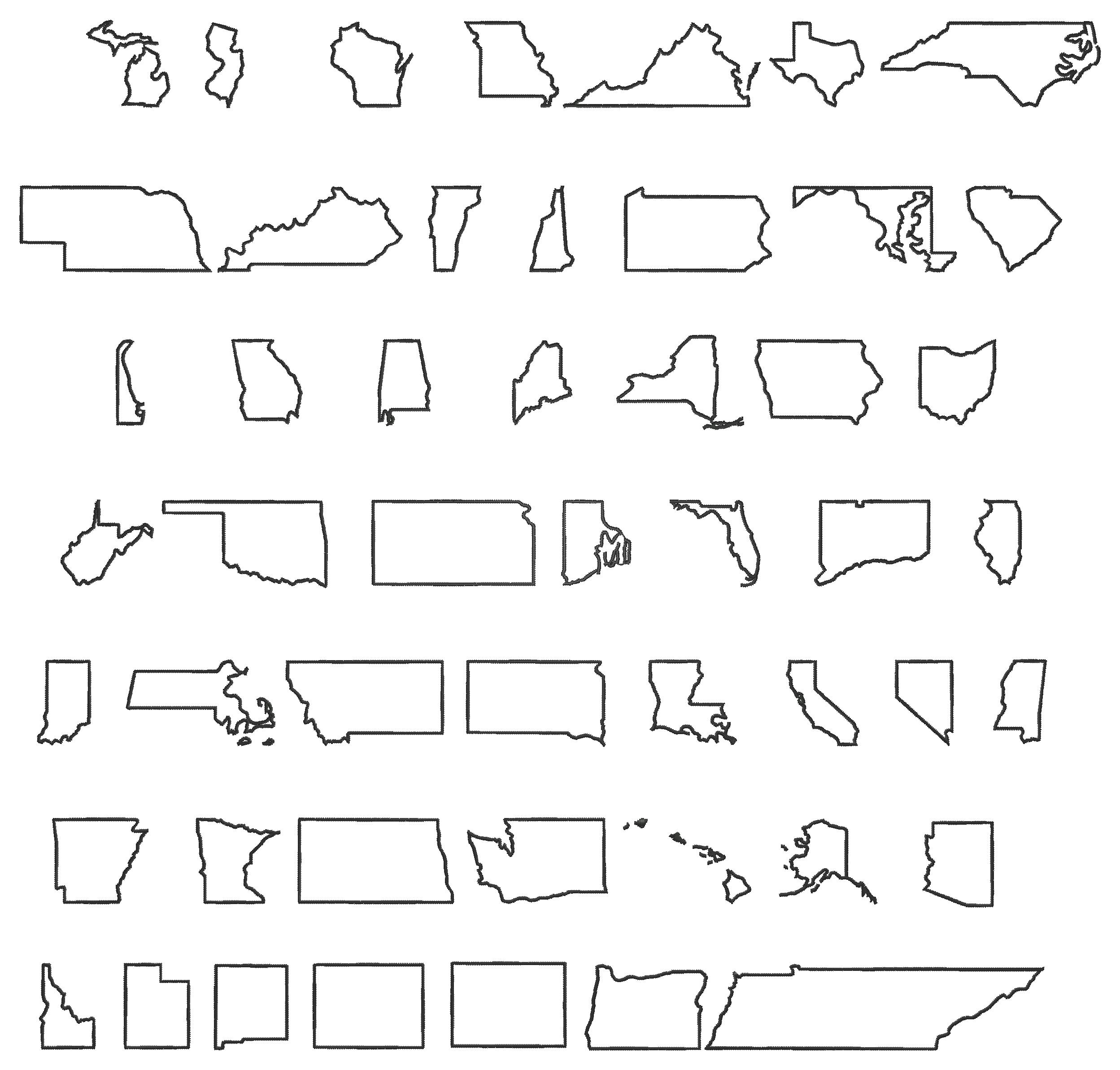 50 State Outline