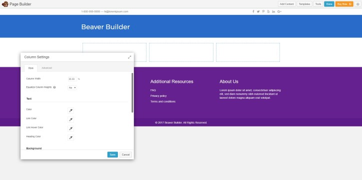 You can try out the Beaver Builder plugin for yourself at http://demo.wpbeaverbuilder.com/.