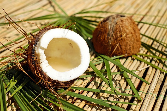 gesunder Snack Kokosnuss