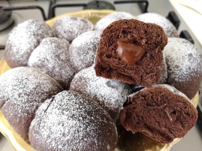 Danubio al cacao e cioccolato fondente