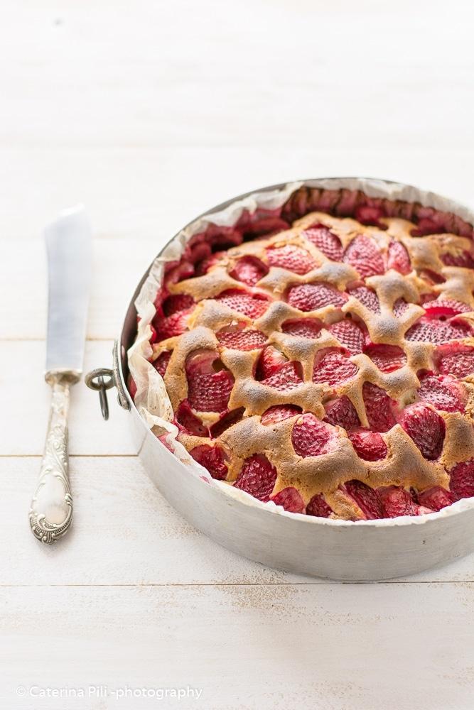 Torta semintegrale con le fragole   ricetta senza burro
