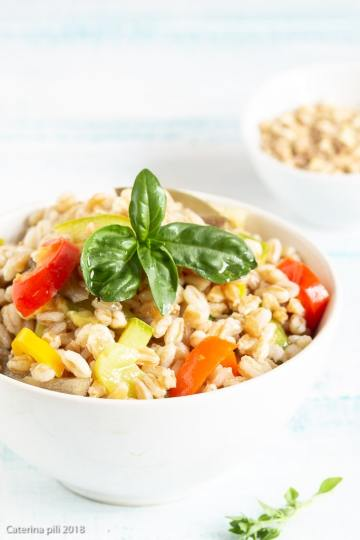 Insalata di farro estiva light