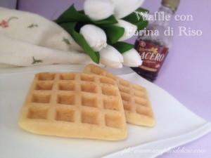 Waffle con Farina di Riso