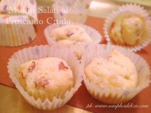 Muffin Salati al Prosciutto Crudo
