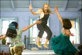 "Left to right: JULIE WALTERS, MERYL STREEP and CHRISTINE BARANSKI in ""MAMMA MIA!""."