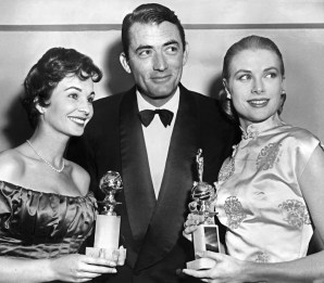 Grace Kelly, Gregory Peck e Jean Simmons, ai Golden Globe (AFP/AFP/Getty Images)