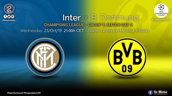 OFFICIAL - Starting Lineups Inter vs Borussia Dortmund: Godin & Asamoah Start