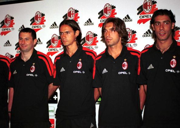 Javi Moreno, Inzaghi, Pirlo and Rui Costa (Photo: Getty Images)